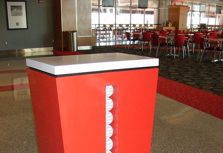 Champions Club hostess stand