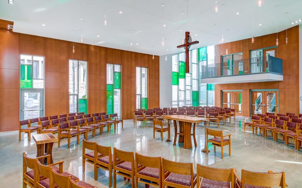 Main worship space of a church