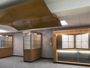 School Legacy Center, with custom cabinets to hold paraphernalia and yearbooks.