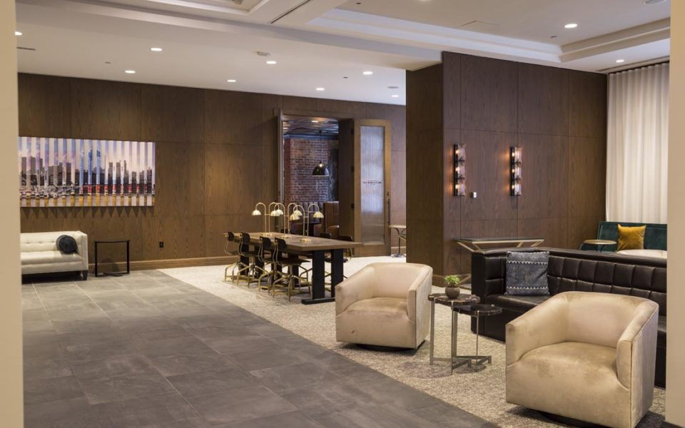 Lounge area of Cincinnatian hotel