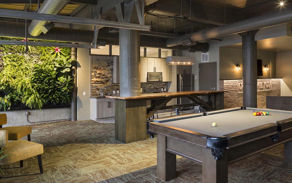 Crane Factory Flats Interior shared amenity space