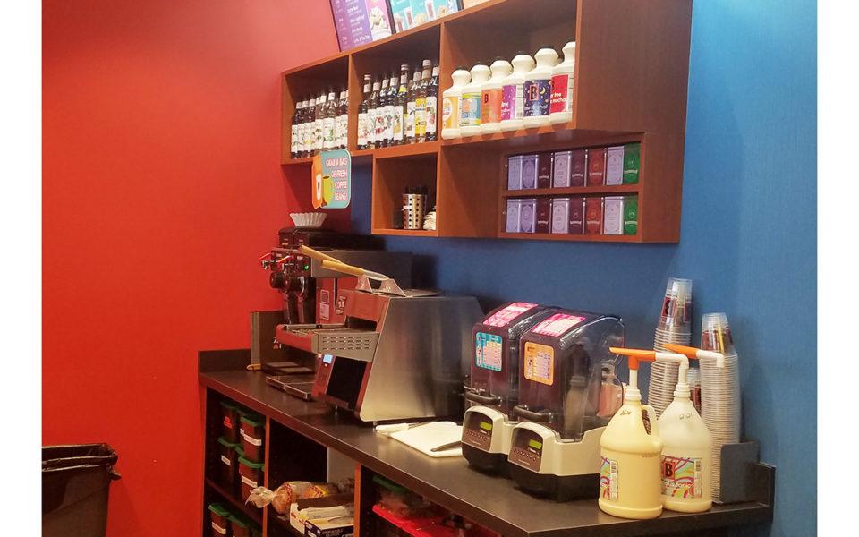 Interior of Biggby Coffee