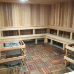 Cedar-paneled Paul Brown Stadium Sauna