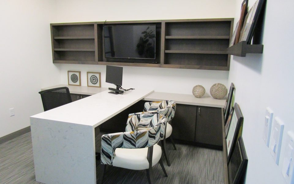 picture of consultation room cabinets