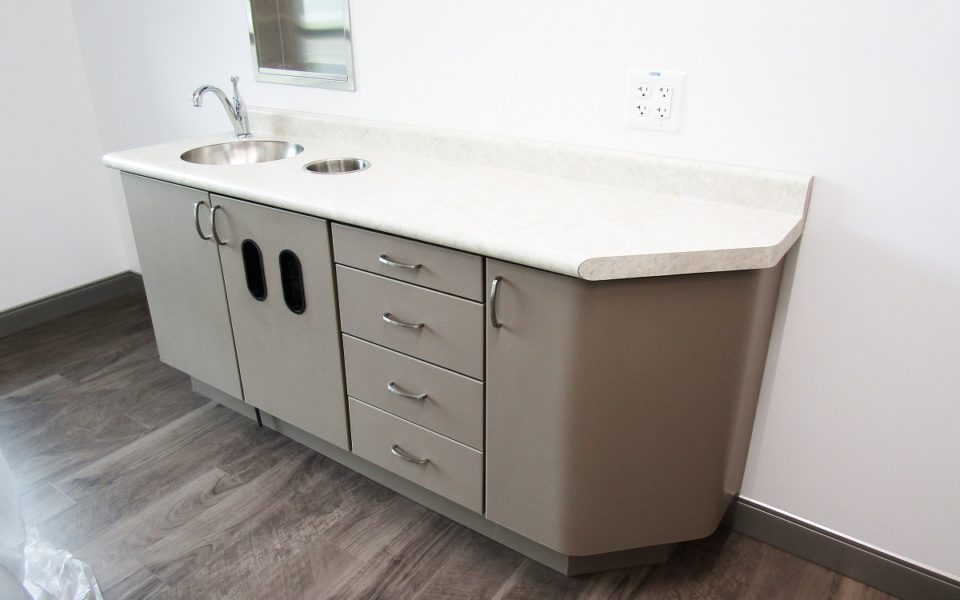 picture of treatment room side cabinet in North Spring Dental