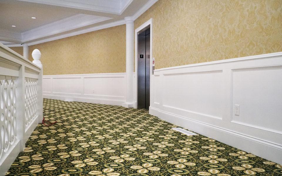Wall trim on the mezzanine
