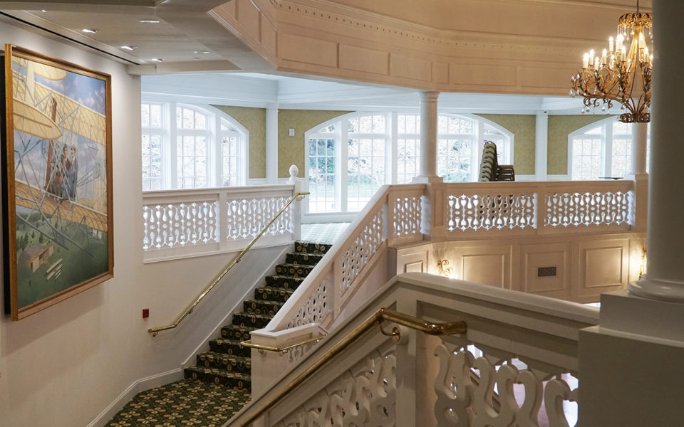 Grand stair at Eichelberger Pavilion
