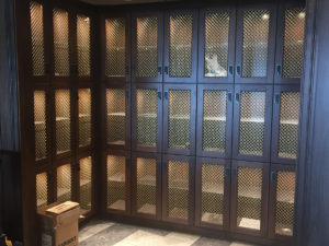 Stanton Millworks custom lockers for Boone County Bourbon Barrel Press Club