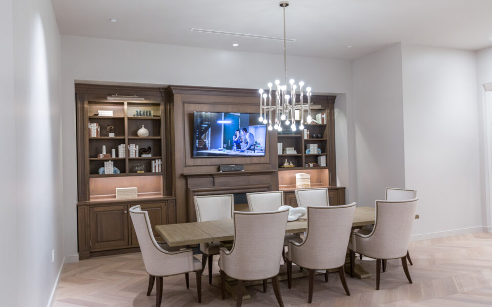 high-end display dining space at Tisdel
