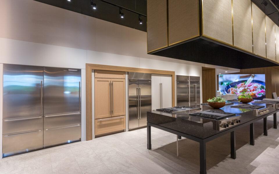display kitchen at Tisdel Distributing Showroom