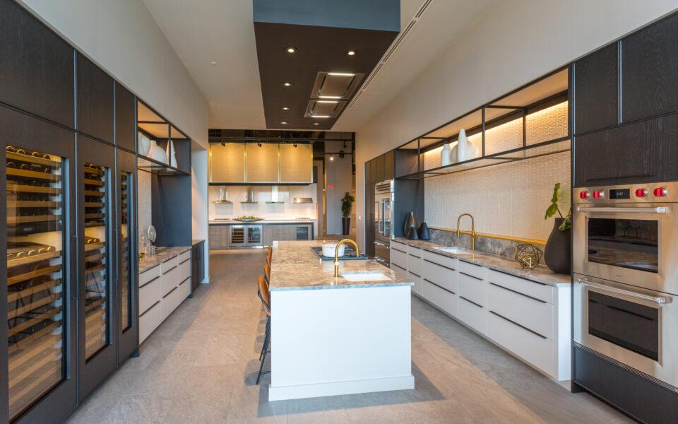 display kitchen at Tisdel Distribution and showroom